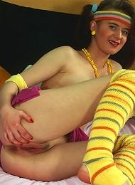 Retro Teenage Cutie Masturbating Teen Porn Pix