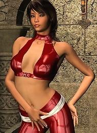 Hot 3d Brunette Poses In 3d Teen Porn Pix