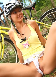 Sweet And Natural Teen Pinky June Riding Bike And Posing Naked Teen Porn Pix
