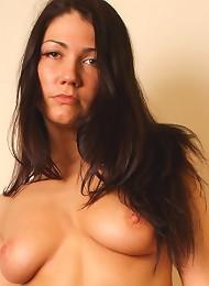 Busty Brunette Exposes Her Flexible Body Teen Porn Pix