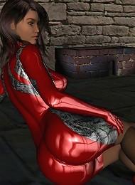 3d Cutie In The Dungeon In Pvc! Teen Porn Pix