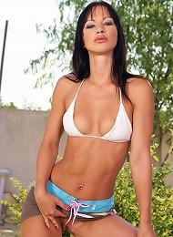 Sexy Girl Stripping In Her Garden Teen Porn Pix