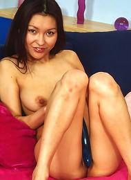 Teenage Asian With A Purple Dildo Teen Porn Pix