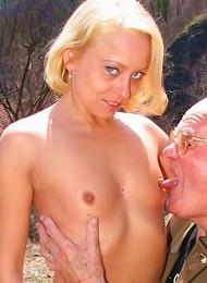 Grandpa Banging A Girlie Outdoor Teen Porn Pix