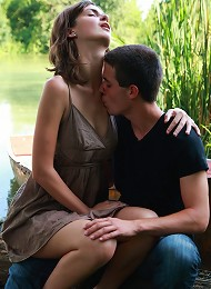 On The Edge Of The Lake, These Teen Lovers Take Each Other The Edge Of Sexual Pleasure. He Brings Her To An Orgasm, The He Explodes All Over Her Perky Teen Porn Pix